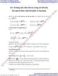 Sử dụng máy tính cầm tay trong các bài toán tìm nguyên hàm, tính tích phân và ứng dụng - số phức - hình học giải tích trong không gian
