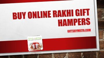 Buy online rakhi gift hampers from GiftsbyMeeta