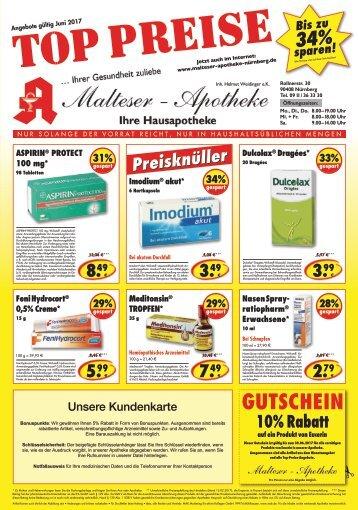 Angebote im Juni der Malteser Apotheke