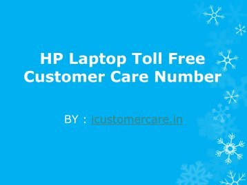HP Laptop Toll Free Customer Care Number
