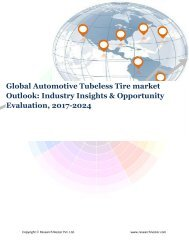 Global Automotive Tubeless Tire market (2017-2024)- Research Nester