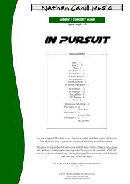 In Pursuit - Score