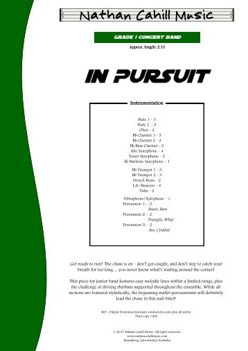 In Pursuit - Score