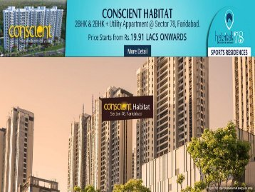 Conscient HABITAT 78  Flats in Faridabad Haryana Government Affordable Flats