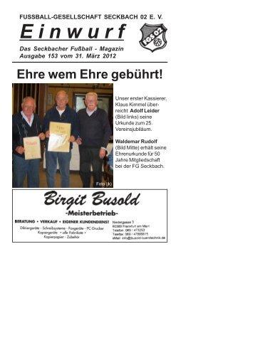"""""""Einwurf""""? Kein Problem! - FG Seckbach 02"""
