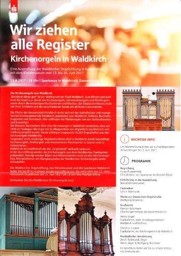 Wir ziehen alle Register - Kirchenorgeln in Waldkirch