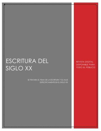 ESCRITURA EN EL SIGLO XX