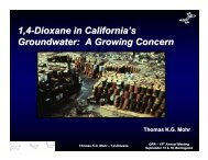1,4-Dioxane in California's Groundwater: A Growing Concern