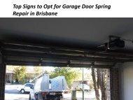 Garage Door Springs Repairs in Brisbane