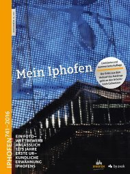Katalog Fotowettbewerb »Mein Iphofen«
