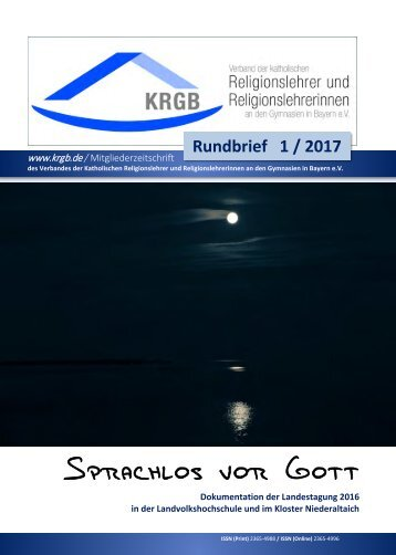 KRGB Rundbrief 2017 / 1