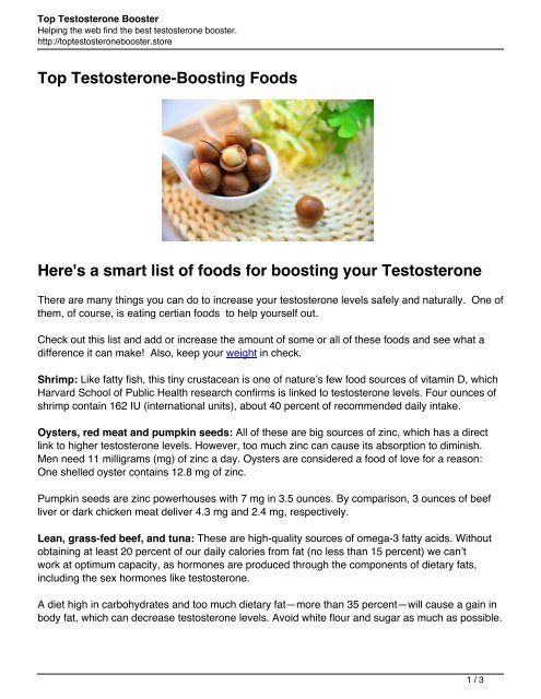 To the boost testosterone best foods 10 Best