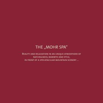 """THE """"MOHR SPA"""" - Mohr Life Resort"""