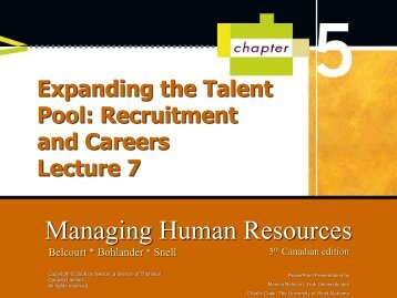 Chapter 5-Expanding the Talent Pool Recruitment and Careers lec7-1-1