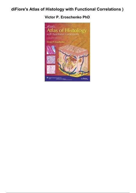 Atlas Of Histology Di Fiore 10th Edition Pdf