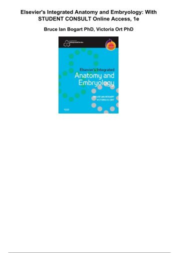 Elseviers Integrated Anatomy And Embryology With Student Consult Online Access 1e