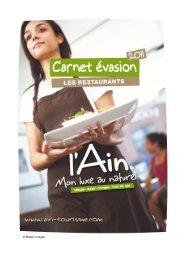 Carnet evasion_Restaurants Ain 2011 - Ain-pro.com
