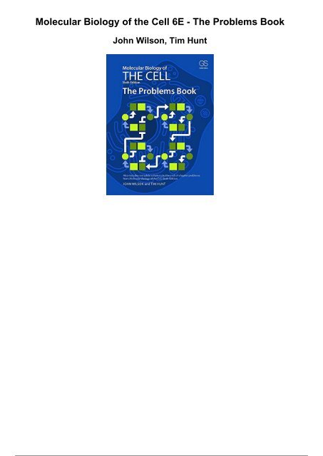 The Problems Book for Molecular Biology of the Cell