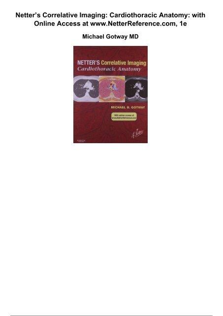 Netters Correlative Imaging Cardiothoracic Anatomy With Online