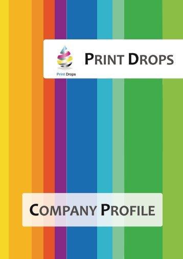 PRINT DROPS COMPANY PROFILE