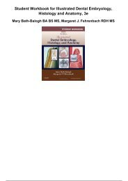 student workbook for illustrated dental embryology histology and anatomy 3e