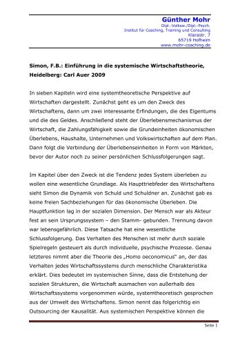 Günther Mohr - Institut für Coaching, Training und Consulting