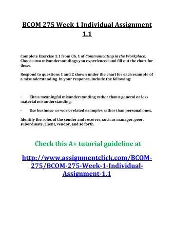 BCOM 275 UOP Tutorial, BCOM 275 Complete Course, BCOM 275 Assignments, BCOM 275 Homework