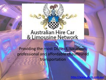 Limo Hire Sydney - Call 0418 600 353