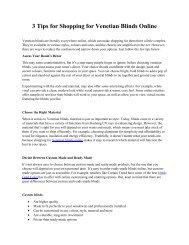 3 Tips for Shopping for Venetian Blinds Online