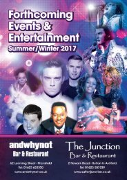 FORTHCOMING EVENTS TRIBUTES 2017