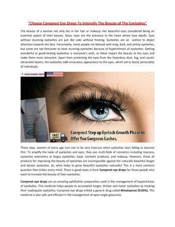 Cheap Careprost Eye Drops Buy Online USA