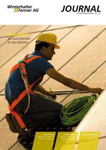 2. Ausgabe 2010 - Photovoltaik - Winterhalter Fenner AG