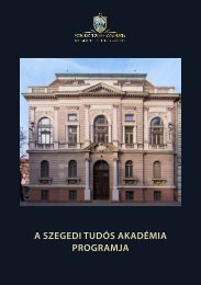 A Szegedi Tudós Akadémia Programja