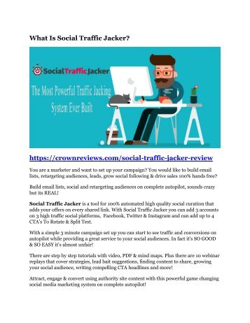 Social Traffic Jacker review & SECRETS bonus of Social Traffic Jacker