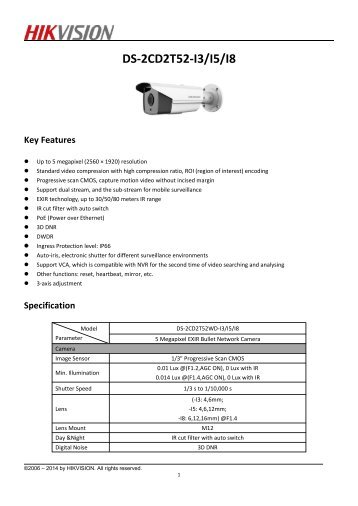 DS-2CD2T52-I5, I8 (4mm,6mm)