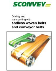 endless woven belts and conveyor belts - Sconvey GmbH