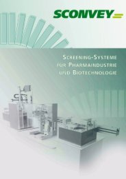 'SCREENING-SYSTEME FR PHARMAINDUSTRIE - Sconvey GmbH