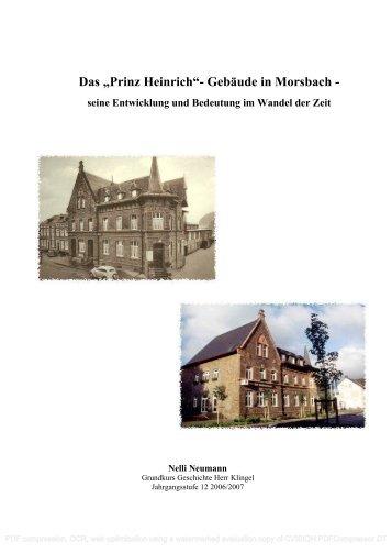 """Das """"Prinz Heinrich""""- Gebäude in Morsbach - - Hollenberg ..."""