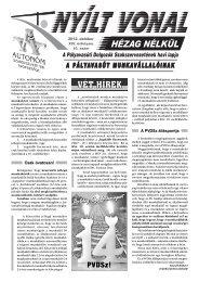 MÁV Zrt. KÜT HÍRLEVÉL –SZEPTEMBER - Pályavasúti Dolgozók ...
