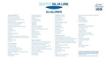 201706 Buffet Silja Line, Suomi 100 summer buffet