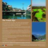 The French Alps - Golf Holidays