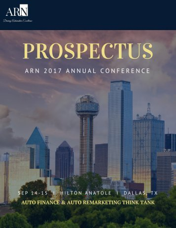 ARN 2017 Annual Conference Prospectus