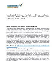 Laminated Labels Market - Global Industry Analysis, Size, Share, Growth, Trends, and Forecast 2016 - 2024