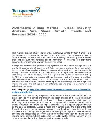 Automotive Airbag Market - Global Industry Analysis, Size, Share, Growth, Trends and Forecast 2014 - 2020