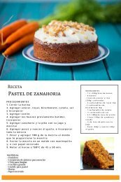 receta pastel de zanahoria