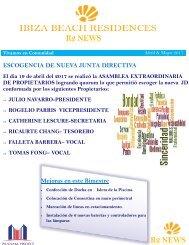 Boletin Informativo IBIZA ABRIL-MAYO