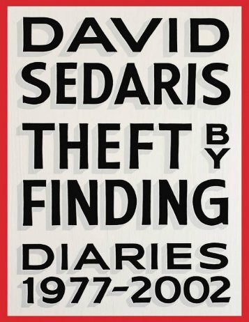 Theft by Finding - David Sedaris