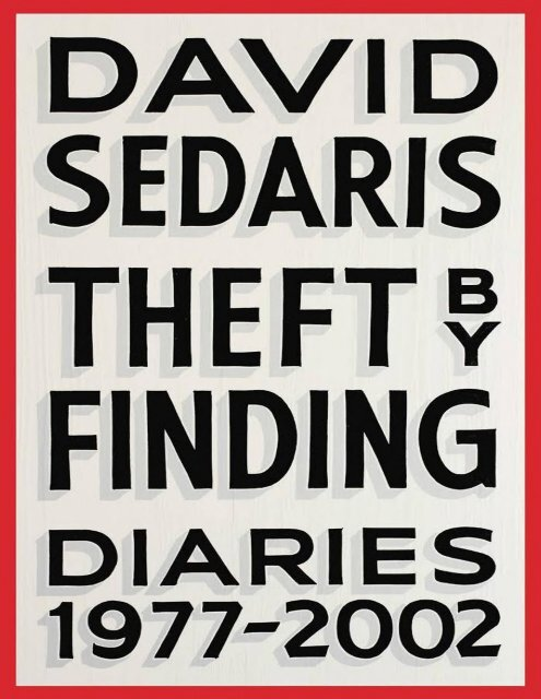 Theft By Finding David Sedaris