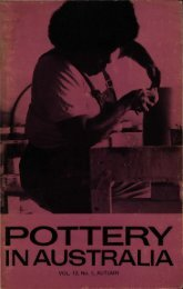 Pottery In Australia Vol 12 No 1 Autumn 1973