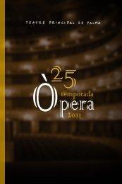 Programa de la XXV Temporada d'òpera del - Teatre Principal